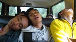 Sleeping on a bemo