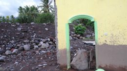 The mudslide crashed through several houses - Ternate