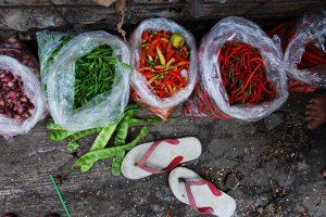 Indonesian market, Semarang, Java