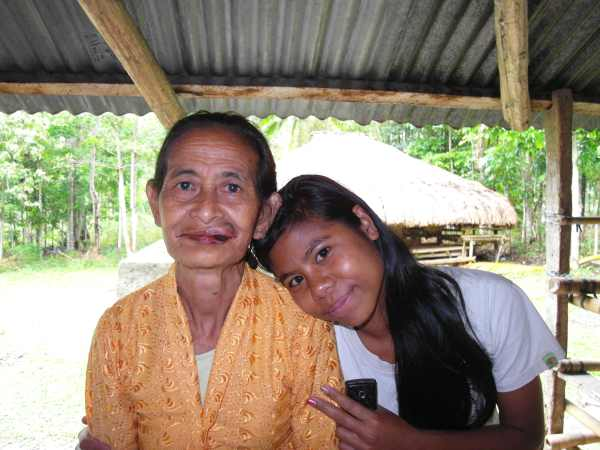 Mama Idi with her grand daughter