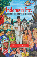 Cover of the International edition of Indonesia Etc: Exploring the Improbable Nation by Elizabeth Pisani from Godown Lontar