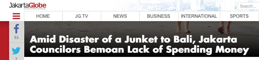 Jakarta Globe Headline