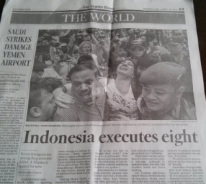 LA Times page 3, Indonesia coverage