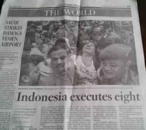 LA Times page 3, Indonesia coverage