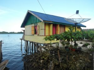 Colorful stilt house - Banggai