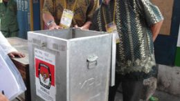 Indonesian polling station