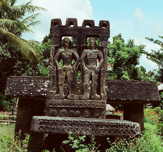 Megalithing tomb in Anakalang, Sumba