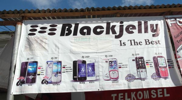 Blackjelly banner Tahuna, in the Sangihe islands off northeast Sulawesi