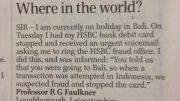 HSBC doesn't know Bali is part of Indonesia