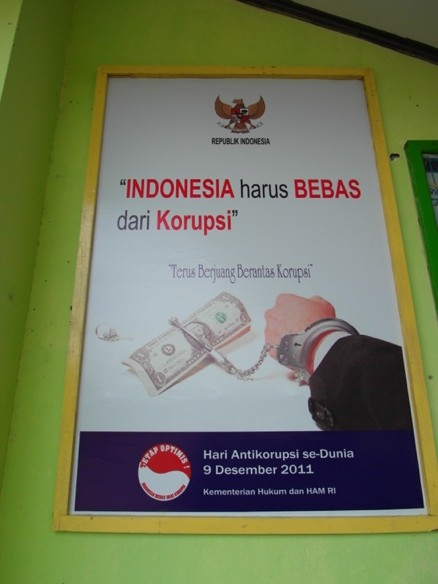 Anti-corruption poster in Indonesia