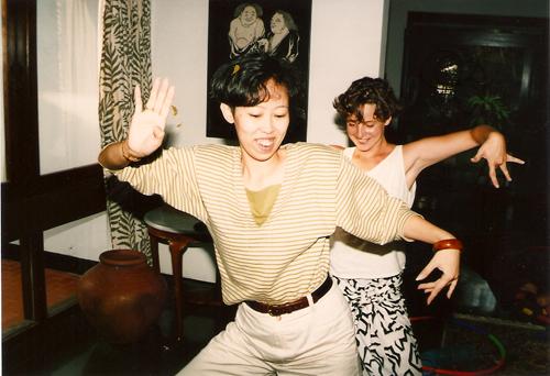 Menuk tries to teach Elizabeth to dance, Jakarta, 1991