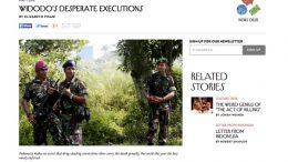 New Yorker comment about Indonesia's execution of drug dealers by Elizabeth Pisani
