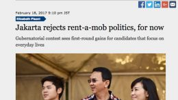 Pisani commentary on Jakarta elections in Nikkei Asian Review