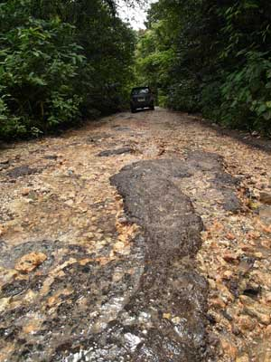 What's left of the road to the asphalt mine in Buton, Sulawesi