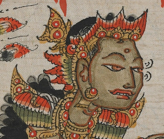 Close-up of a Balinese noble in conversation