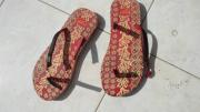 slashed sandals